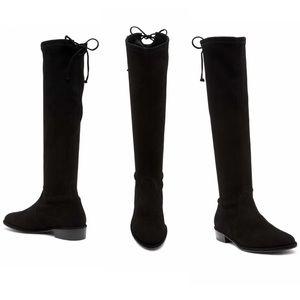 Stuart Weitzman Kneezie Black Suede Boots